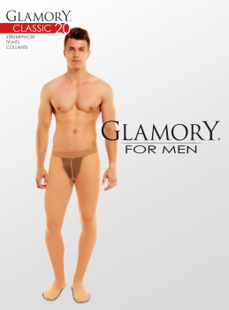 GLAMORY Classic 20 Herrenstrumpfhose M - 4XL in 2 Farben G-50422