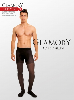 GLAMORY Support 70 Herrenstrumpfhose M - 4XL in schwarz G-50427