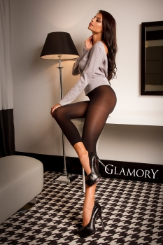 GLAMORY Velvet 80 Leggings Gr. 40 - 62 in schwarz G-50168