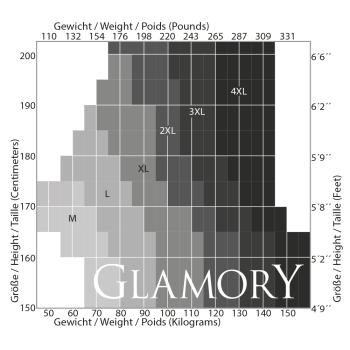 40-62 G-50115 GLAMORY Comfort 20 Halterlose Strümpfe make up Gr