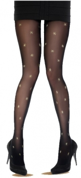 PRETTY POLLY Strumpfhose All Over Star OneSize Farbe schwarz - PX AWD4- LA