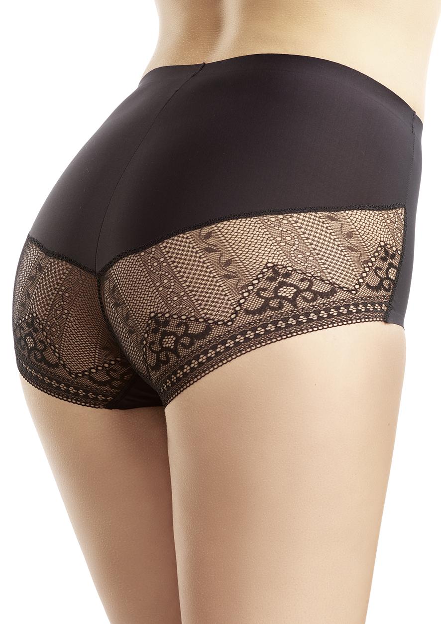38f2673b781d6e SUSA ❤ Bodyforming Panty mit Spitze 5537 schwarz 004 ❤ S - XL