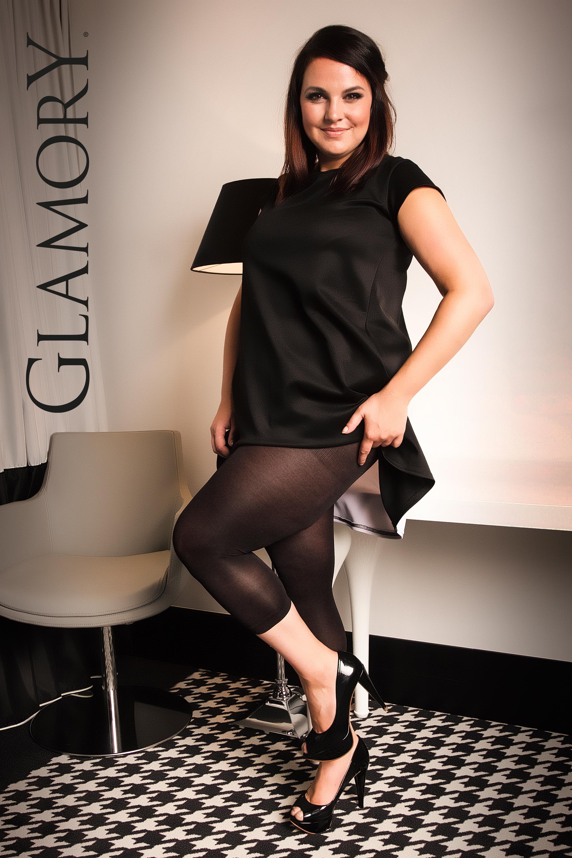 40-62 in schwarz G-50168 GLAMORY Velvet 80 Leggings Gr