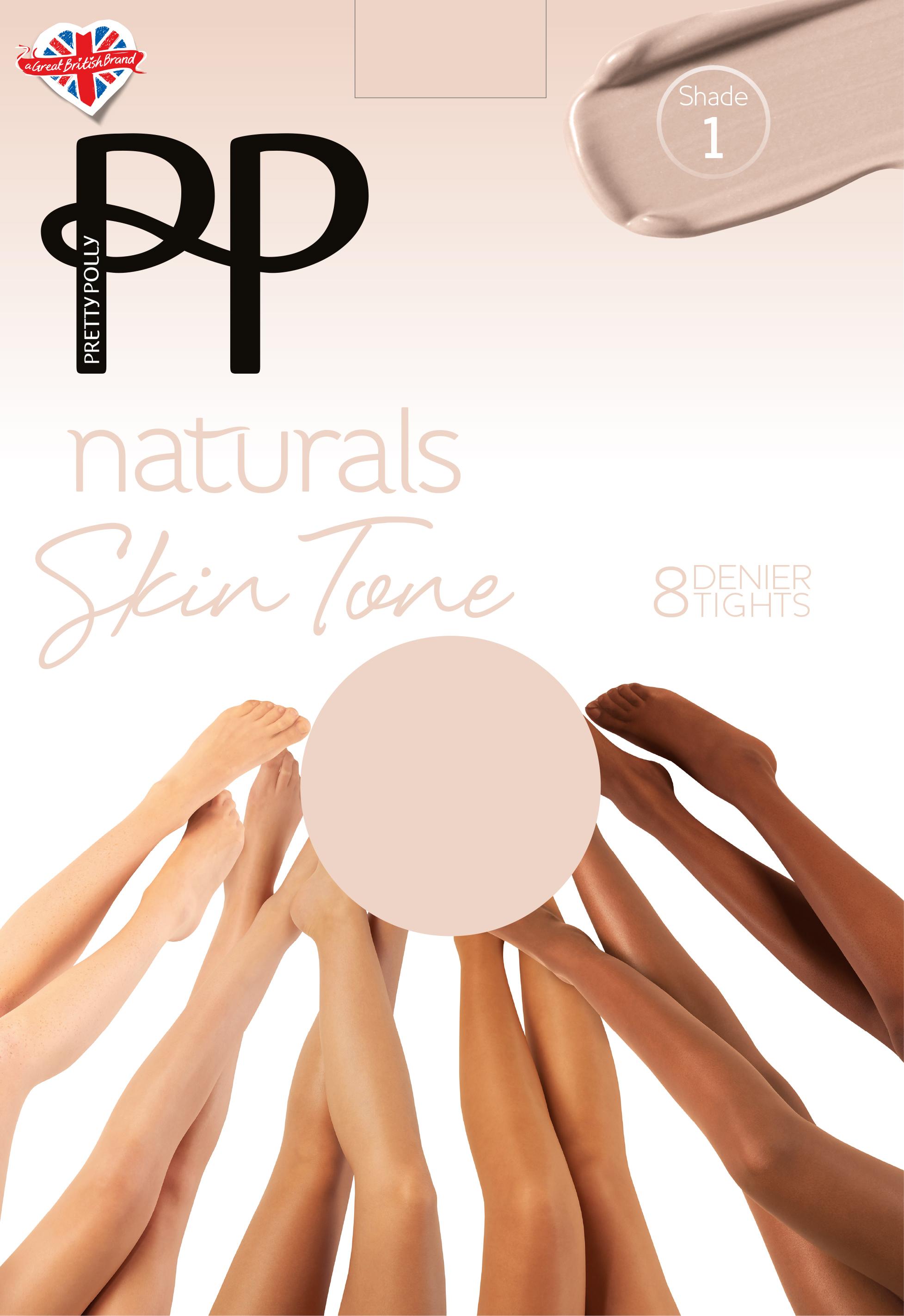 PN AVH5 PRETTY POLLY Stumpfhose Skin Tönes 6 Farben OneSize
